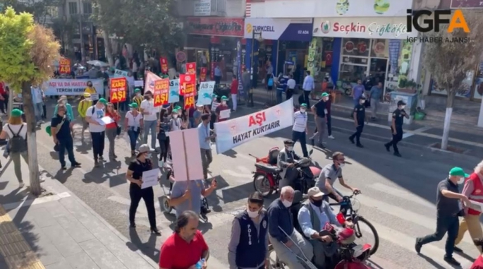 Adıyaman'da Rotary Kulübü aşı farkındalığı için yürüyüş gerçekleşti