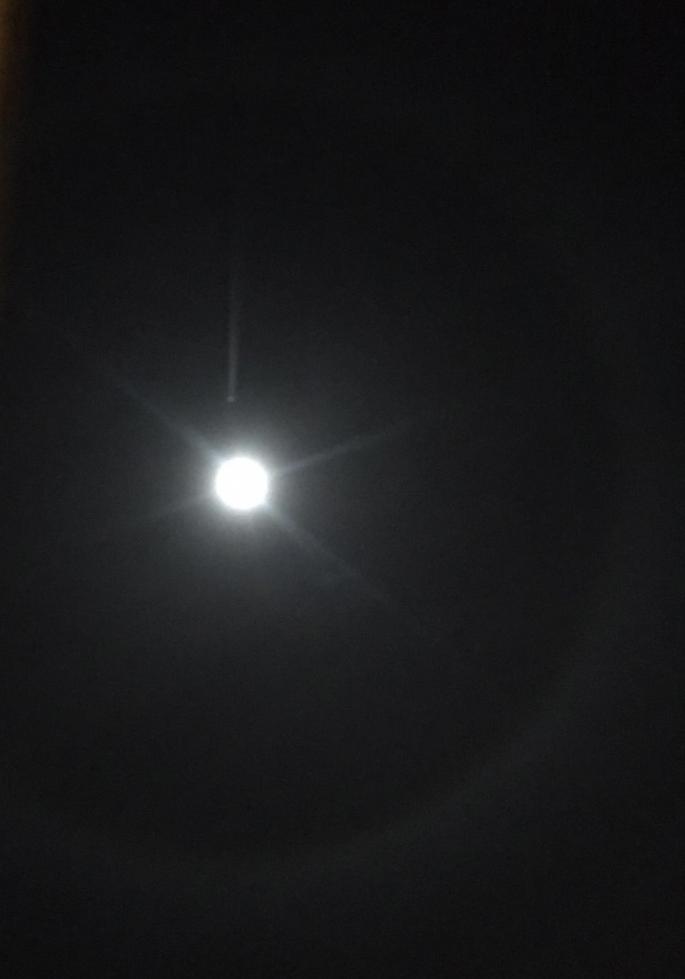 Ay'ın etrafını çevreleyen çember Adıyamanlıları Büyüledi
