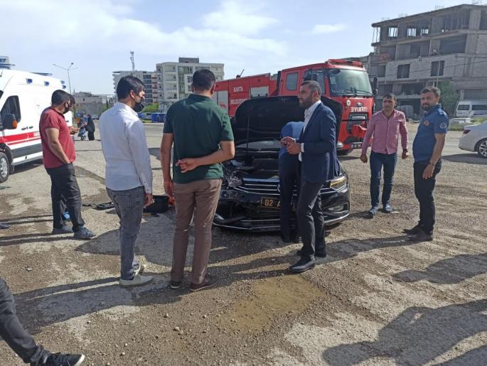 Belediye Başkanı makam aracıyla kaza yaptı