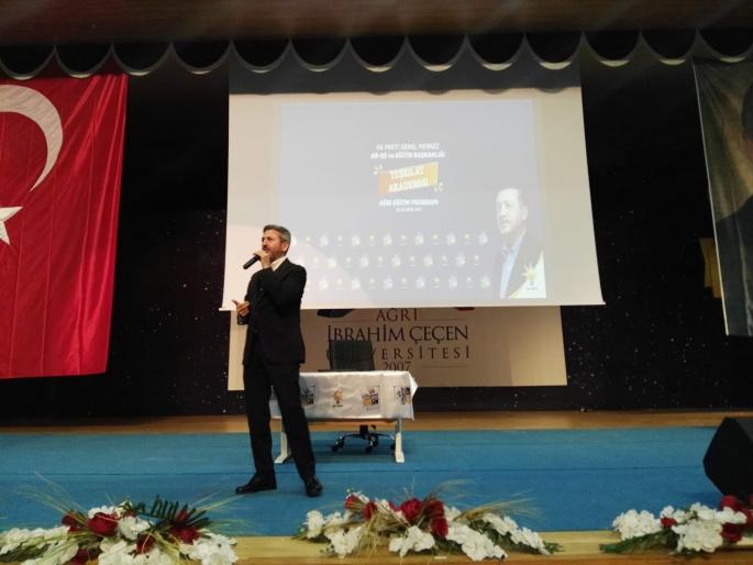GMDK Başkanı Aydın, Ağrı ve Iğdır'da Teşkilat Akademisinde