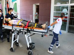Adıyaman'da inşaattan düşen işçi yaralandı
