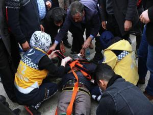 Adıyaman'da Motosikletin Çarptığı Yaya Yaralandı