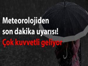 Adıyaman'da Şiddetli Yağış Uyarısı