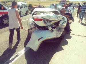 Adıyaman Şanlıurfa karayolunda trafik kazası: 8 yaralı