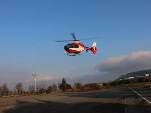 Ambulans Helikopter Akciğer Hastası İçin Havalandı