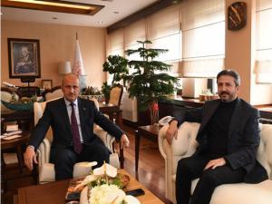 Aydın'dan Ulaştırma ve Altyapı Bakanına Ziyaret