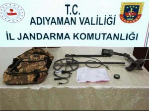 Besni'de Kaçak Kazı Operasyonu: 3 Gözaltı