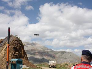 Çelikhan'da Drone İle Asayiş Uygulaması