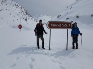 Dağcılar Nemrut Dağına Tırmandı