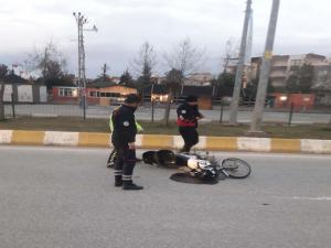 Kahta'da Motosiklet Devrildi: 1 Yaralı