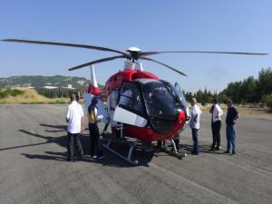 Kanser Hastası İçin Ambulans Helikopter Havalandı