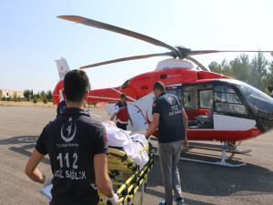 Karaciğer Hastası İçin Ambulans Helikopter Havalandı