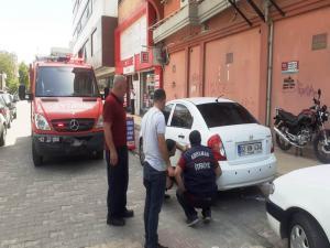 Otomobildeki gaz sızıntısı paniğe neden oldu