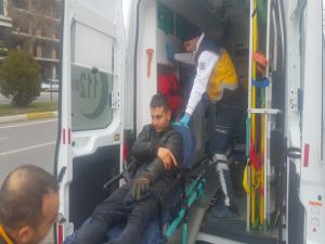 Otomobilin Çarptığı Bisikletli Yaralandı