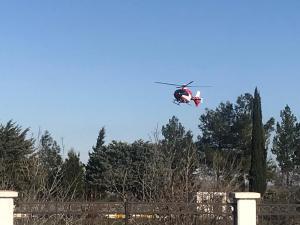 Yaşlı Kadının İmdadına Helikopter Yetişti