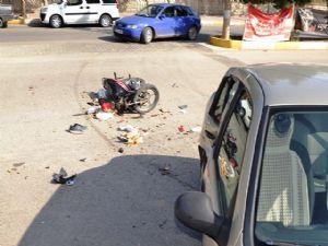 Adıyaman'da Motosiklet Kazası; 1 Yaralı