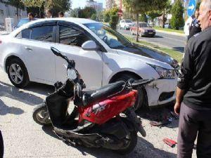 Otomobil Motosikletle Çarpıştı; 1 Yaralı