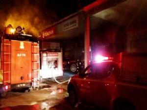 Adıyaman Küçük Sanayi Sitesinde Yangın