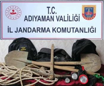 Adıyaman'da Kaçak kazı operasyonu: 3 gözaltı