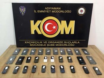 Adıyaman'da kaçak telefon operasyonu: 1 gözaltı