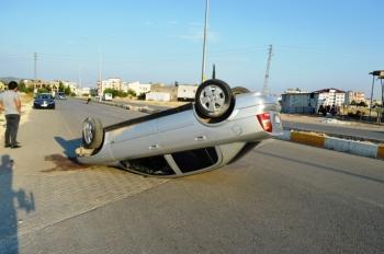 Adıyaman'da otomobil devrildi: 3 yaralı