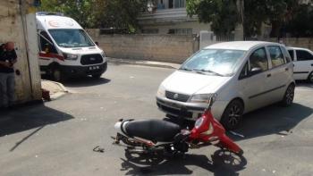 Adıyaman'da otomobil ile motosiklet çarpıştı:1 yaralı