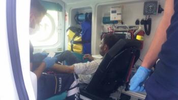 Adıyaman'da otomobilin çarptığı kişi yaralandı