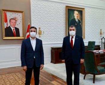 GMDK Başkanı Aydın Sağlık Bakanı Koca'yı ziyaret etti