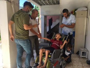 Hasan Berkcan Serebral palsi hastasına umut oldu