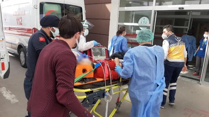 Adıyaman'da 7. kattan düşen kadın ağır yaralandı
