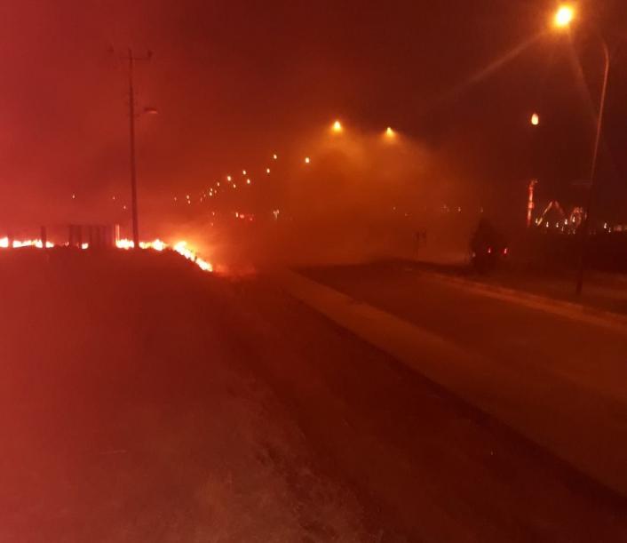 Adıyaman´da anız yangını: 4 kişi dumandan zehirlendi