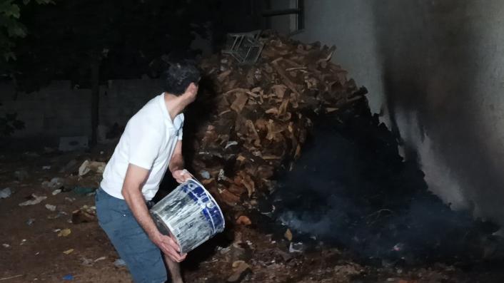 Adıyaman´da fırın odunluklarında korkutan yangın