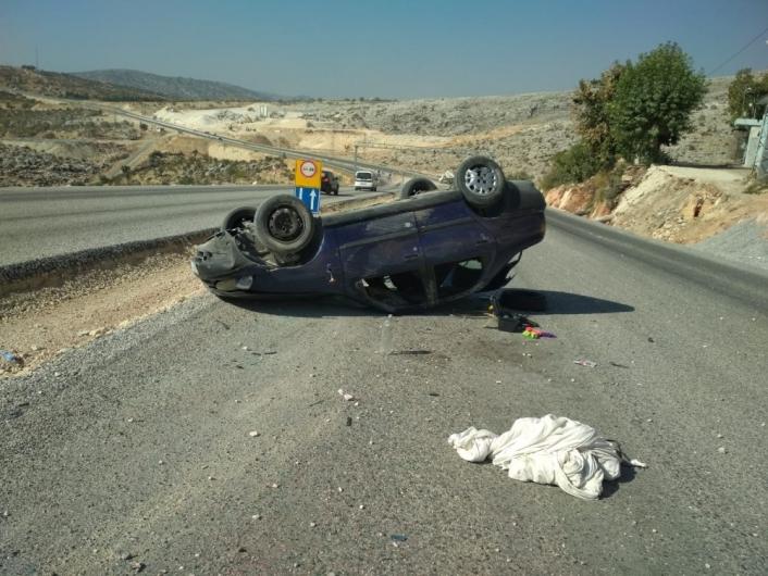 Adıyaman´da otomobil takla attı: 3 yaralı
