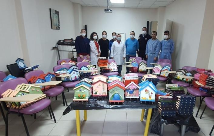 Adıyaman´da sağlık çalışanlarına moral desteği