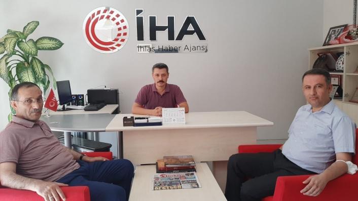 AK Parti İl Başkanı Dağtekin´den İHA´ya ziyaret