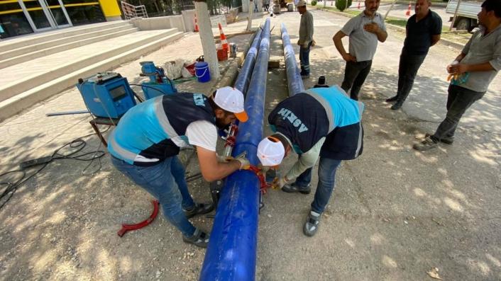 Atatürk Bulvarının altyapısı yenileniyor