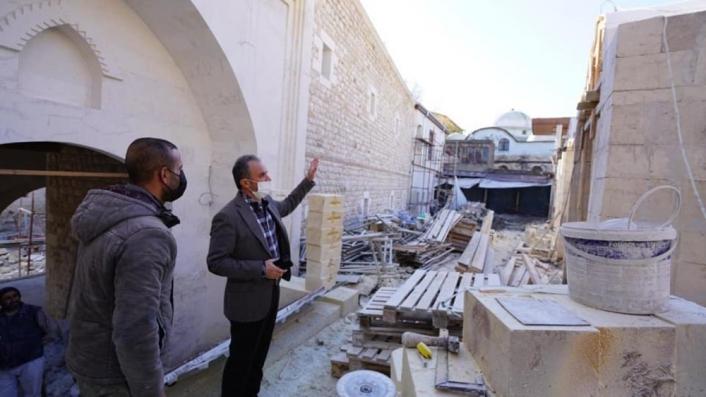 Başkan Kılınç, restorasyon çalışmalarını yerinde inceledi