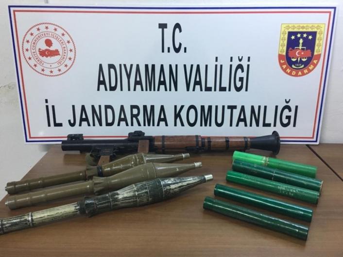 Adıyaman'da Bir askerin şehit olduğu saldırıda kullanılan roketatar ele geçirildi