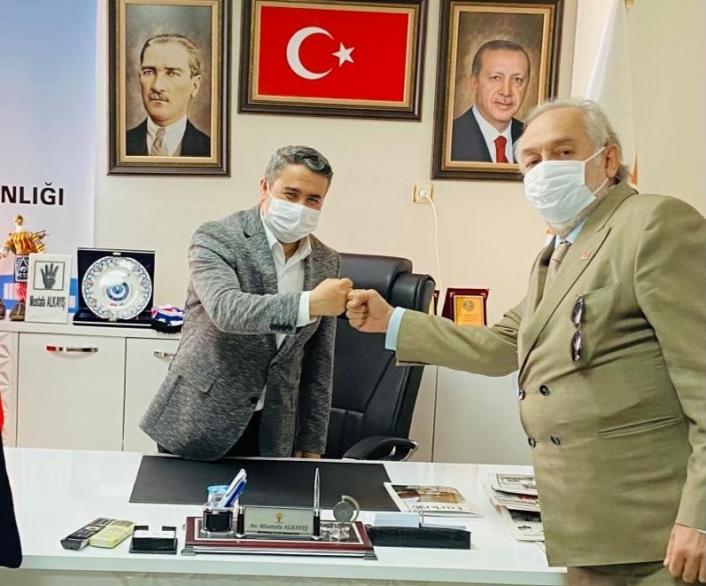CHP İl Başkanı Binzet'ten  Ak Parti Merkez İlçe Başkanı Alkayış'a Ziyaret