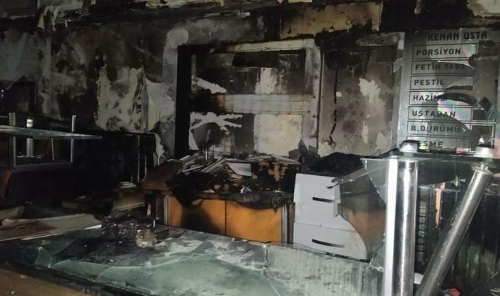 Adıyaman'da Çiğköfte Dükkanı Alev Alarak Yandı