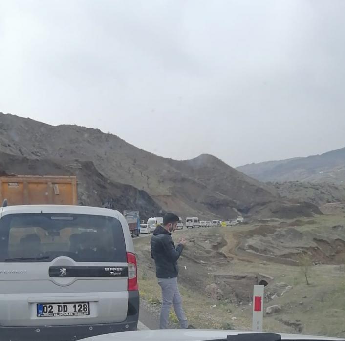 Adıyaman- Malatya Karayolu trafiğe kapandı