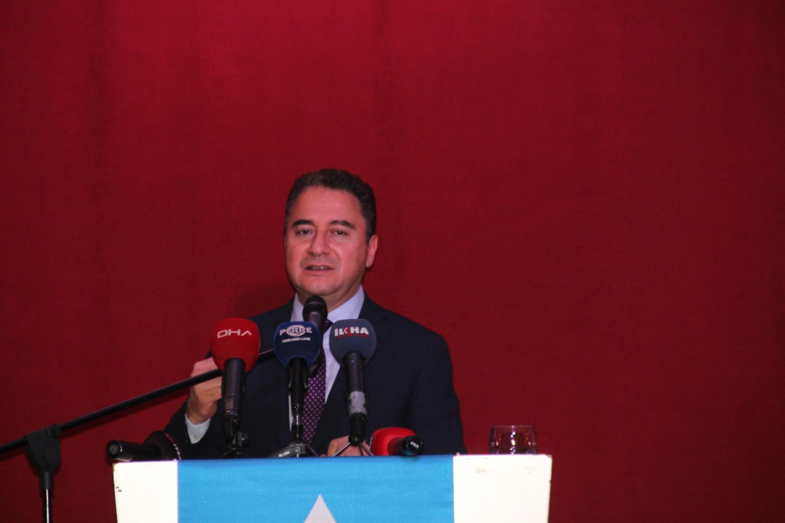 Deva Partisi Genel Başkanı Ali Babacan Adıyaman'da