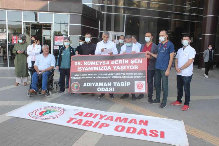 Doktorlar, Rümeysa Berin Şen için basın açıklaması yaptı