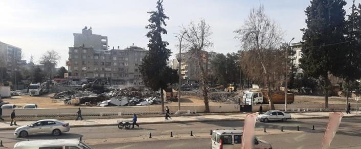 Eski adliye binasının yıkımı tamamlandı