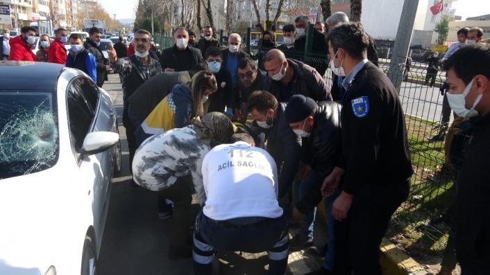 Eski belediye başkanının aracı yayaya çarptı: 1 yaralı