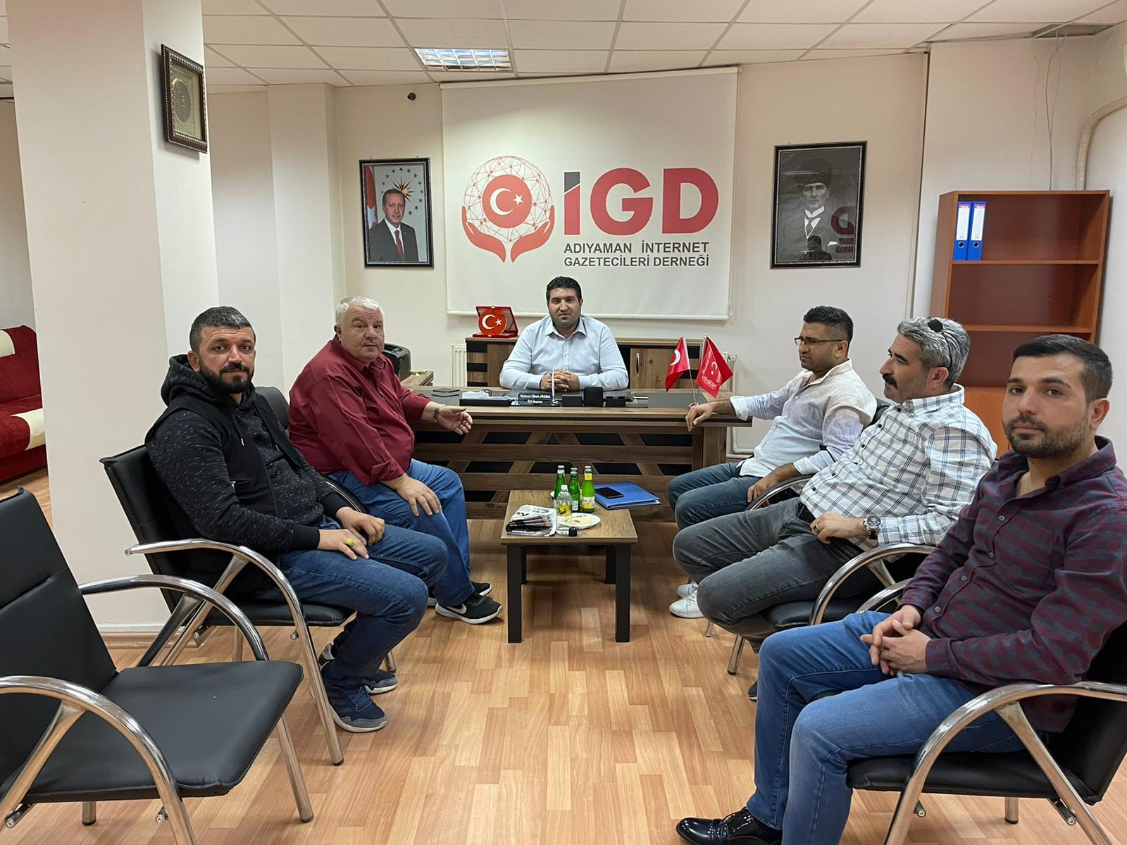 Gap Gazeteciler Birliğinden İGC'ye Ziyaret