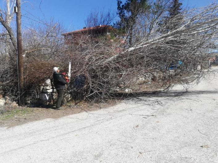 Gölbaşı ilçesinde çatılar uçtu, ağaçlar devrildi