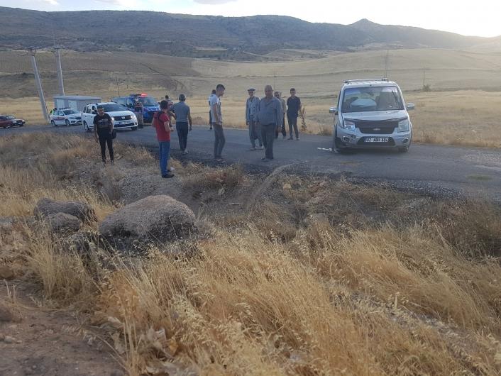 Adıyaman'da Hafif ticari araç yoldan çıktı: 2 yaralı