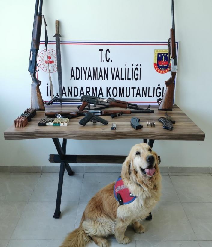 Adıyaman'da Jandarman silah operasyonu