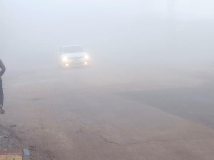 Kahta ilçesini sis etkisi altına aldı